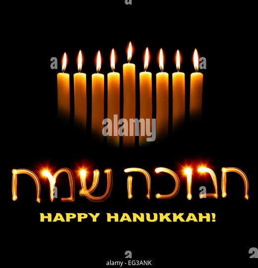 Chanukah stock photos chanukah stock images alamy candles and wishes happy hanukkah in hebrew stock image m4hsunfo