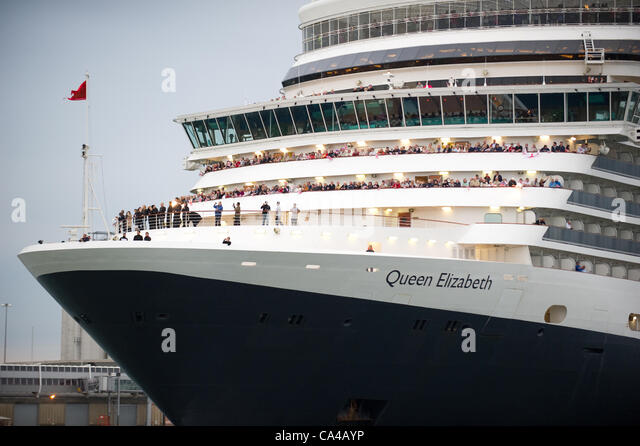 The Three Cunard Cruise Ships Queen Elizabeth Victoria And