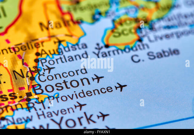 Map Usa Boston Stock Photos Map Usa Boston Stock Images Alamy