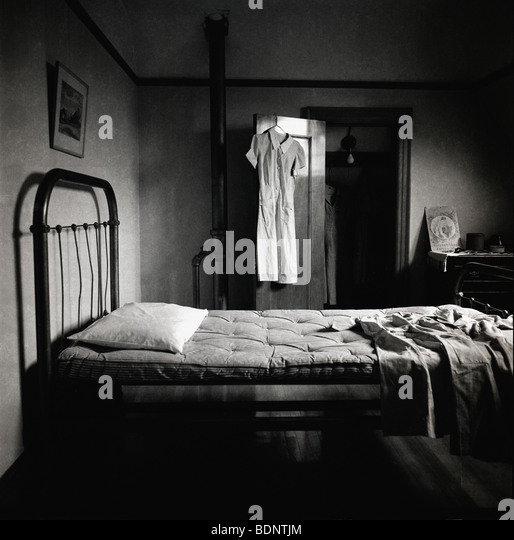 an old fashioned bedroom stock image