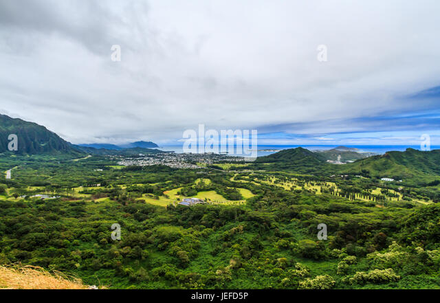 Pali lookout stock photos pali lookout stock images alamy for The windward