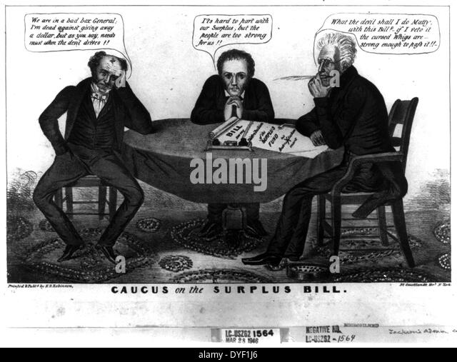 political cartoon andrew jackson and distribution of art    stock image andrew jackson campaign stock photos  u0026 andrew jackson campaign      rh   alamy com