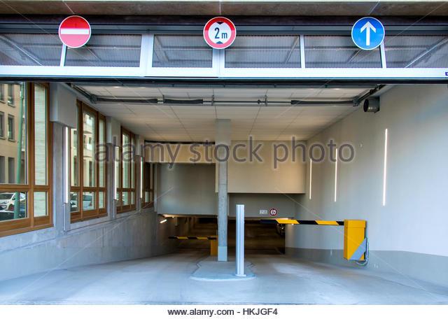 Parking garage entrance stock photos parking garage for Garage ad barlin