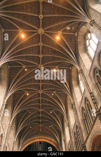 Hereford Cathedral The Vaulted Roof of the Nave - Stock Image & Vaulted Roof Stock Photos u0026 Vaulted Roof Stock Images - Alamy memphite.com