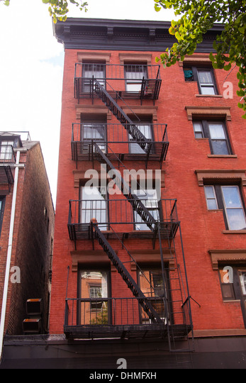 Metal fire escape , Manhattan, New York, City, United States of ...