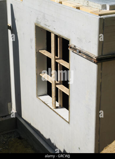 Prefabricated parts stock photos prefabricated parts for Prefab basement walls