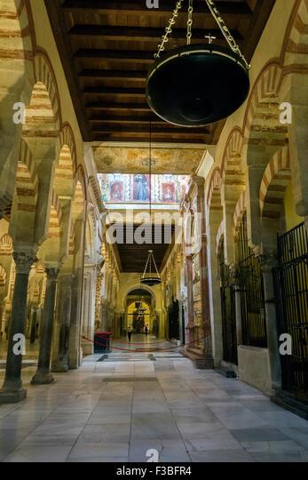 Interior View Mezquita Catedral Cordoba Stock Photos