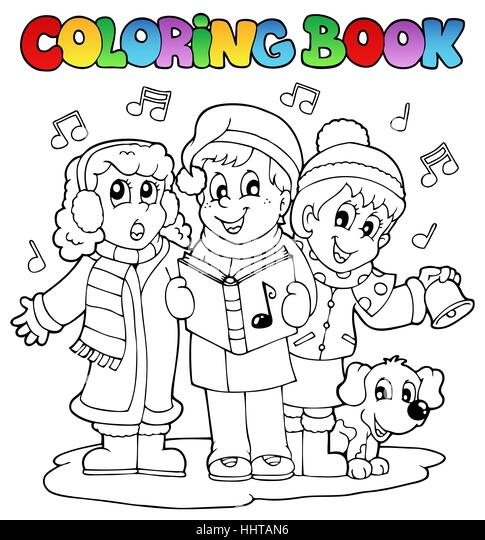 Colour Paint Painted Christmas Carol Colouring Xmas X