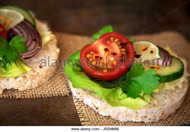 Rice Cake Tomato Stock Photos & Rice Cake Tomato Stock ...