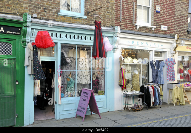 vintage shop clothes stock photos vintage shop