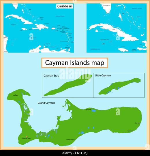 Map Of Cayman Islands Stock Photos Map Of Cayman Islands Stock - Cayman islands map caribbean