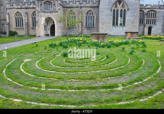 Church Labyrinth Vector Drawing Joy Studio Design
