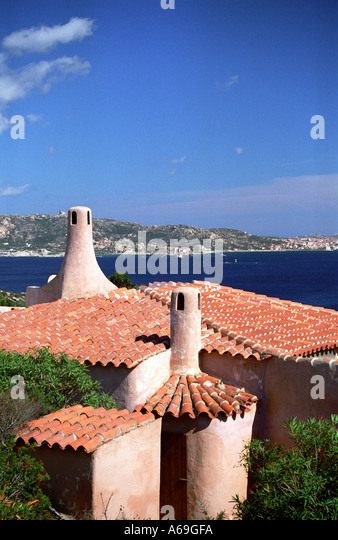 Terracotta rooves with a view to La Maddalena Sardinia - Stock Image & Terracotta Roofs Rooves Sardinia Stock Photos u0026 Terracotta Roofs ... memphite.com