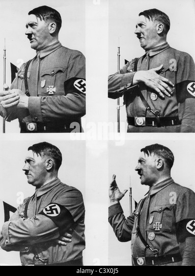 assesment of adolf hitlers speech giving tactics Analysis of nazi propaganda a behavioral study  of personality around adolf hitler was the one shown  appearance of light around hitler, almost giving him a halo.