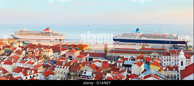 Port Lisbon Ships Stock Photos Port Lisbon Ships Stock Images - Lisbon cruise ship port
