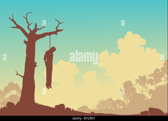 Hanging Man Silhouette