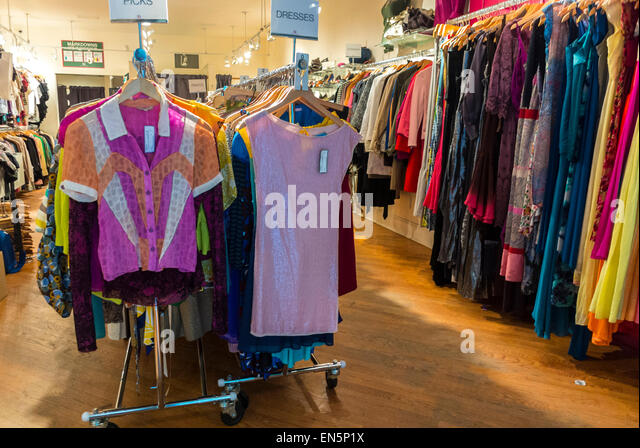 vintage clothes shop boutique stock photos vintage