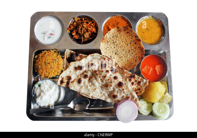 how to serve indian food in plate