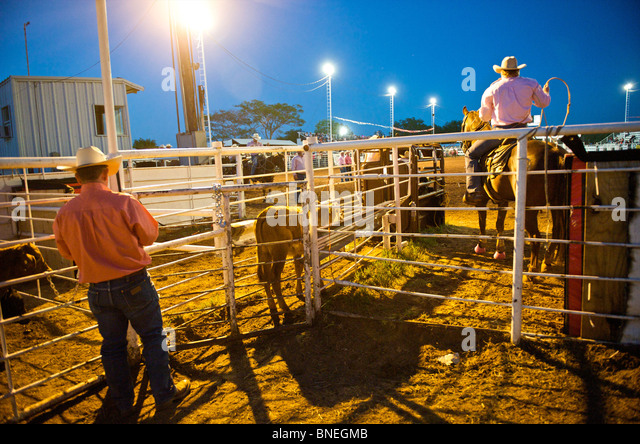 Bridgeport (TX) United States  City new picture : Cowboys in Small town PRCA rodeo, Bridgeport Texas, USA Stock Image