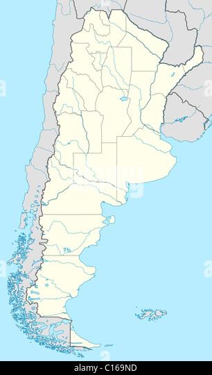 Argentina Map Geography Stock Photos Argentina Map Geography - Argentina map of country
