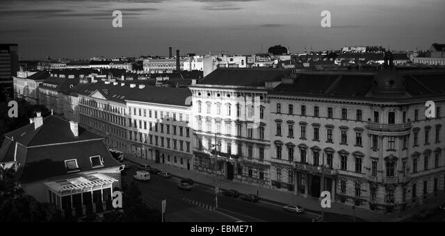 Aerial view of buildings in a city leopoldstadt vienna austria stock image