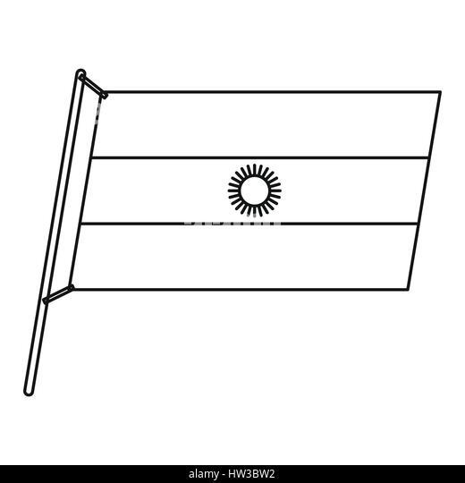 Argentina Flag Outline Stock Photos  Argentina Flag Outline Stock