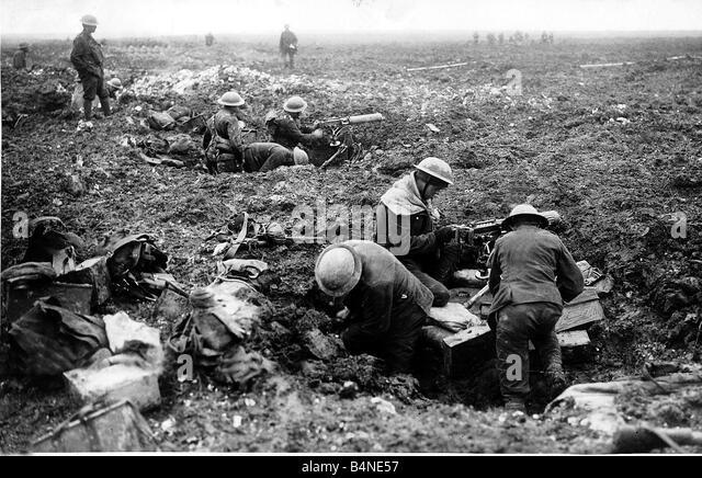 machine gun in world war one