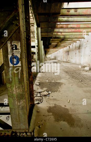 Abandoned Empty Derelict Warehouse Stock Photos