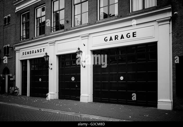 Rembrandt Garage in Amsterdam - Stock Image & Garage Black and White Stock Photos \u0026 Images - Alamy Pezcame.Com
