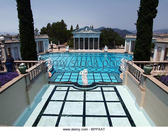 Hearst castle pool stock photos hearst castle pool stock for Castle gardens pool