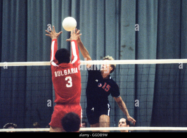 usa 15 karch kiraly in action during match with bulgaria at long beach arena