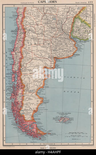Argentina Maps Stock Photos Argentina Maps Stock Images Alamy - Argentina cape horn map