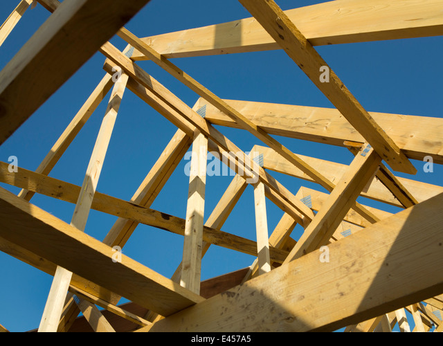 Roof Trusses Inside Stock Photos Roof Trusses Inside