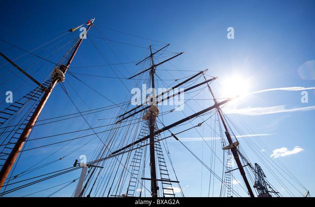 Sailboat mast stock photos sailboat mast stock images alamy ship mast on blue sky background stock image sciox Gallery