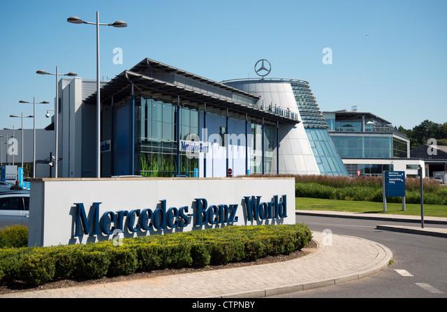 Mercedes benz world surrey stock photos mercedes benz for Mercedes benz brooklands