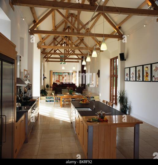 Barn Conversion Kitchens modern kitchen in barn conversion stock photos & modern kitchen in