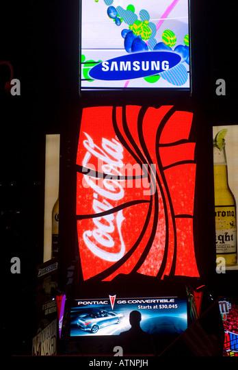 Coca Cola Advertising Usa Stock Photos & Coca Cola Advertising Usa Stock