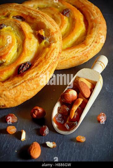 Vanilla Cream Filled Pastry Stock Photos & Vanilla Cream ...