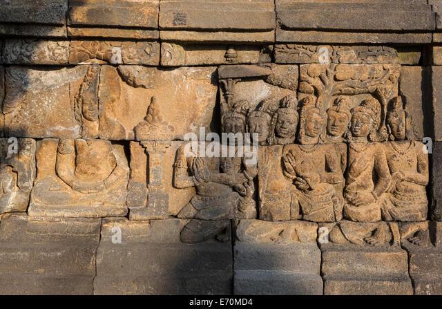 Life of the buddha stone stock photos