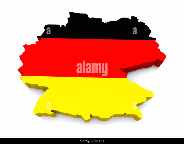 Flag Germany In Shape Country Stock Photos Flag Germany In Shape - Germany map shape