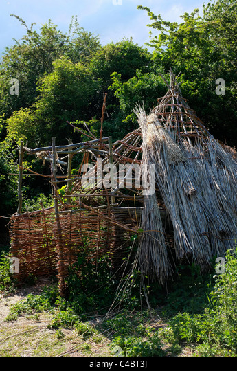 Primitive Home Stock Photos amp Primitive Home Stock Images  : straw house primitive dwelling made from sticks and reeds c4bt3j from www.alamy.com size 346 x 540 jpeg 113kB