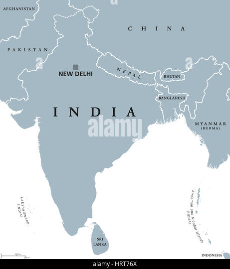 Map Asia Subcontinent Stock Photos  Map Asia Subcontinent Stock
