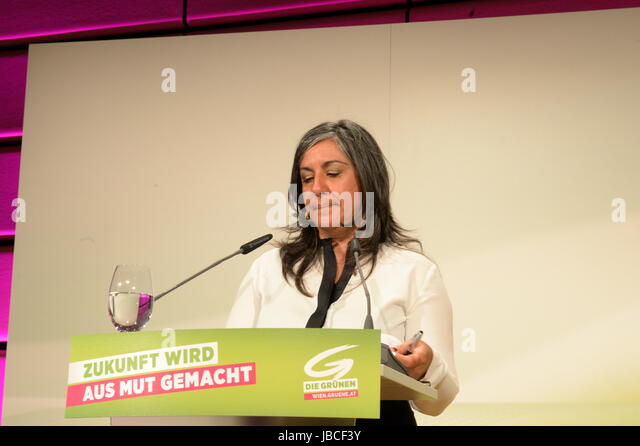 Vienna, Austria. 10 June 2017 . The Green Party's General Assembly is the highest political body and convenes - Stock Image