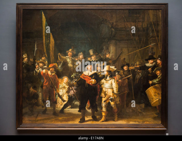 night watch rembrandt The night watch was painted in the 17th century as a group portrait of a militia company led by one frans banning cocq companies of urban militia were part of the everyday life of the dutch.