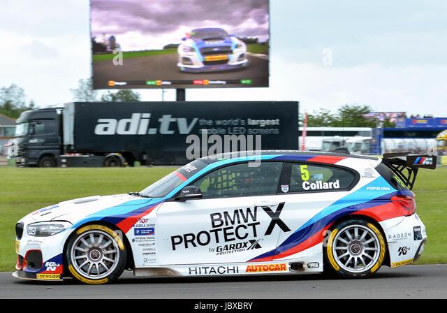 Dunlop MSA British Touring Car Championship,Robert Collard No5 driving his BMW 125i M, Team BMW, Croft Circuit Darlington, - Stock Image
