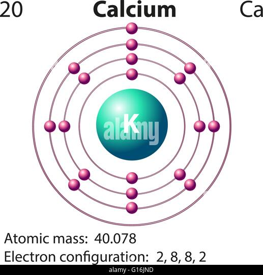 diagram for calcium element calcium stock photos & element calcium stock ... atom diagram for calcium