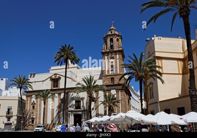 Iglesia de Santiago Cadiz, Plaza de la Catedral, Cadiz, Spain (Church of St James), exterior view - Stock Image