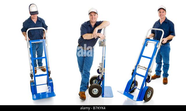 Man Pushing Delivery Cart Stock Photos Amp Man Pushing