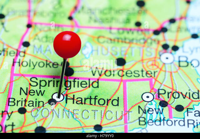 Map Of Connecticut State Stock Photos Map Of Connecticut State - Hartford usa map