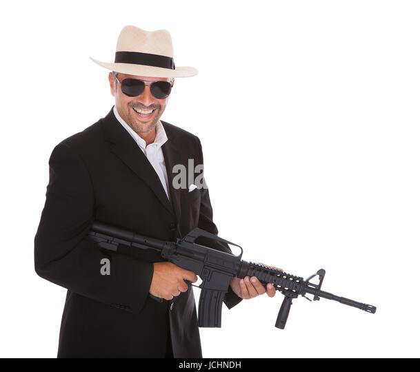 Business Gun Gangster Stock Photos & Business Gun Gangster